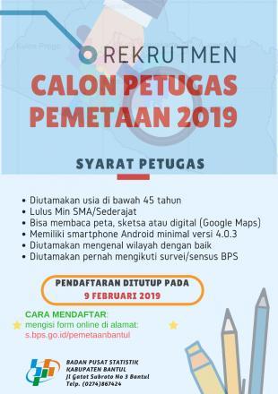 Rekrutmen Calon Petugas Pemetaan 2019